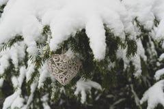 Décoration en forme de coeur de nouvelle année photographie stock