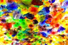 Décoration en verre en plastique colorée de fleur Photographie stock