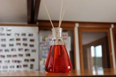 Décoration en verre rouge Images stock