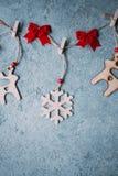 Décoration encadrée de Noël ou de nouvelle année Photo stock