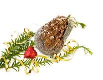 Décoration et coeur de Noël Photographie stock