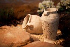 Décoration et métier en céramique de cruches d'argile de vases Photo libre de droits