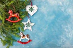 Décoration et nourriture de Noël Photos stock