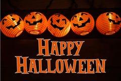 Décoration et salutation de Halloween images libres de droits