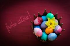 Décoration et salutation de Pâques Photographie stock
