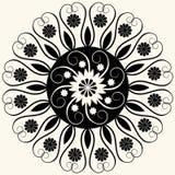 Décoration florale baroque Image libre de droits