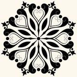 Décoration florale baroque Images libres de droits