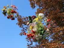 Décoration florale d'automne banque de vidéos