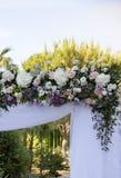 Décoration florale pour un support de mariage Images libres de droits