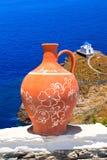 Décoration grecque traditionnelle sur l'île de Sifnos Photographie stock libre de droits