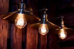 Décoration grunge d'éclairage intérieur photos libres de droits