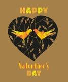 Décoration heureuse de jour du ` s de Valentine Images stock