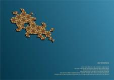 Décoration hexagonale Image stock