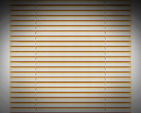 Décoration horizontale d'or de fenêtre d'abat-jour Photos libres de droits
