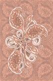 Décoration indienne de fleur Images libres de droits