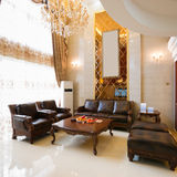 Décoration intérieure à la maison de luxe Photos libres de droits