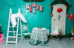 Décoration intérieure de beau Noël pour la célébration de famille Image stock