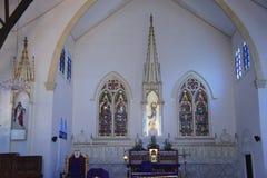 Décoration intérieure de la cathédrale dans Puerto Princesa, Philippines Photos stock