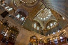 Décoration intérieure de la mosquée bleue de Sultanahmet de mosquée images libres de droits