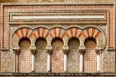Décoration islamique antique de bâtiment Photographie stock libre de droits
