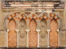 Décoration islamique antique de construction Photo libre de droits