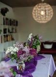 Décoration lilas Photographie stock libre de droits
