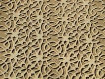 Décoration modelée mauresque de mur Photo stock