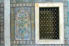 Décoration murale dans le musée de Bardo à Tunis, Tunisie photographie stock