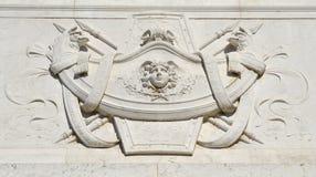 Décoration néoclassique à Rome photographie stock