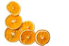 Décoration orange sèche Image libre de droits