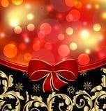 Décoration ornementale florale de Noël Image stock