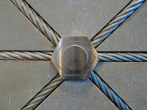 Décoration par la bride de câble en métal Images stock