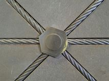 Décoration par la bride de câble en métal Photos stock