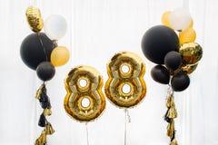 Décoration pendant 88 années d'anniversaire, anniversaire image stock
