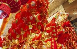 décoration pendant la nouvelle année chinoise Images libres de droits