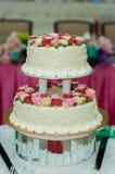 Décoration pour le gâteau de mariage Photographie stock libre de droits