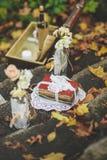 Décoration pour un mariage ou date dans le rétro style Photos libres de droits