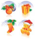 Décoration réglée de graphisme de Noël illustration stock