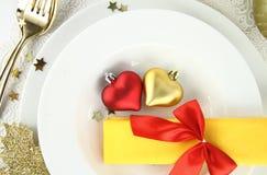 Décoration romantique de table photo stock