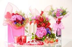 Décoration romantique pour le jour du ` s de Valentine Photo libre de droits