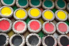 Décoration ronde de mur de disque coloré Photo stock