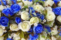 Décoration rose artificielle de fleurs photo stock