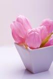 décoration rose de fleur de tulipe dans un cadre Photographie stock libre de droits