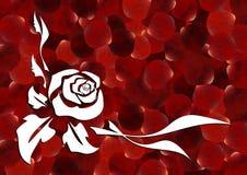 Décoration rose de résumé Photo stock