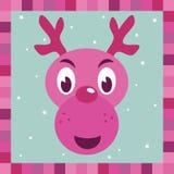 Décoration rose de renne de Rudolph Image libre de droits