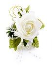 Décoration rose de revers de blanc Photo libre de droits