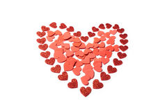 Décoration rouge de coeur de jour de valentines Image libre de droits