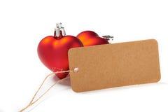 Décoration rouge de coeur de jour de valentines Image stock