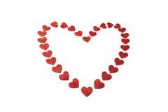 Décoration rouge de coeur de jour de valentines Photographie stock libre de droits