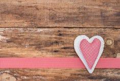 Décoration rouge de fond d'amour de coeur pour Valentine Image libre de droits